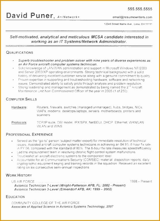 military resume example762555