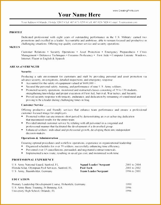 7 military resume templates free samples examples format resume curruculum vitae free