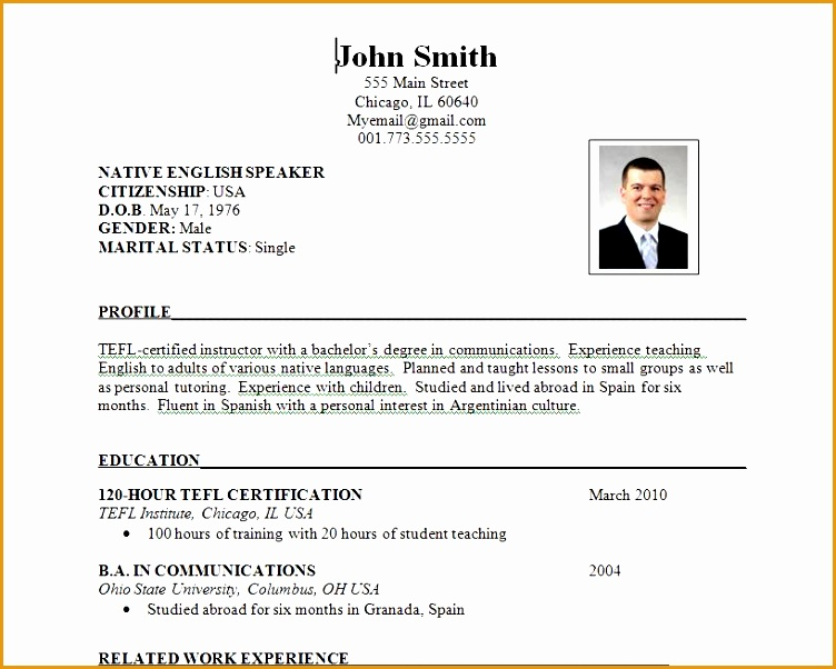 The Good Resume Format Examples For Job Seeker Getting Job in 2015 Different Resume Format Samples 12