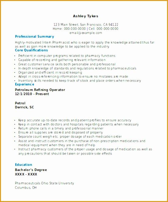 Experienced Curriculum Vitae664552