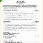 7 Preschool Teacher Resume Sample