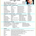 5 Professional Actor Resume