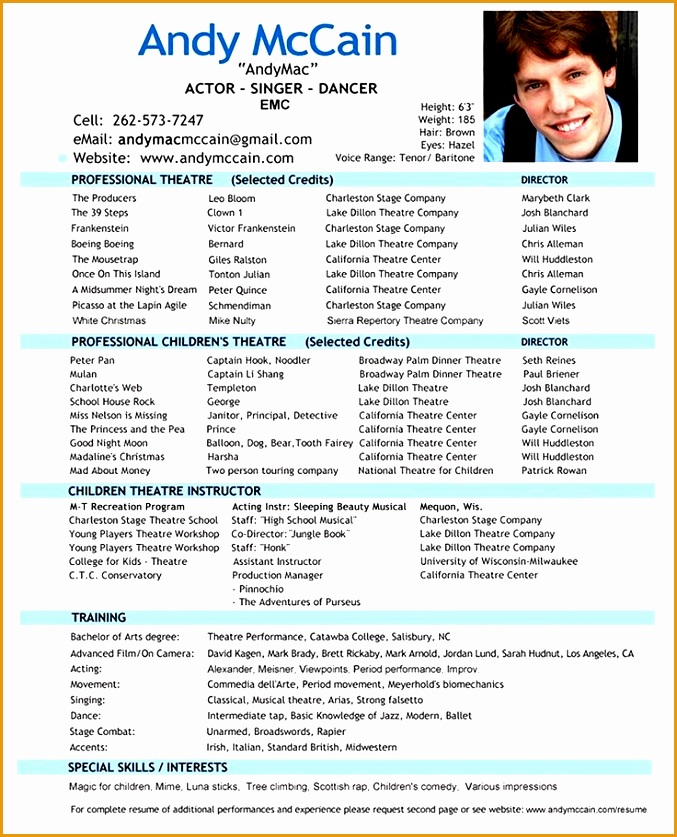 25 best ideas about acting resume template on pinterest free throughout professional acting resume
