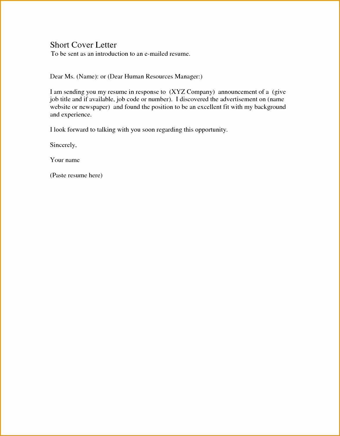 4 quick resume cover letter free samples examples format