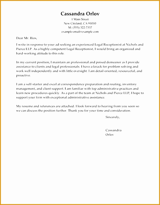 Luxury Cover Letter Sample For Receptionist 13 About Remodel Examples Cover Letters with Cover Letter Sample For Receptionist