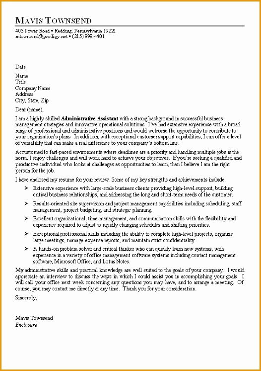 sample receptionist cover letter