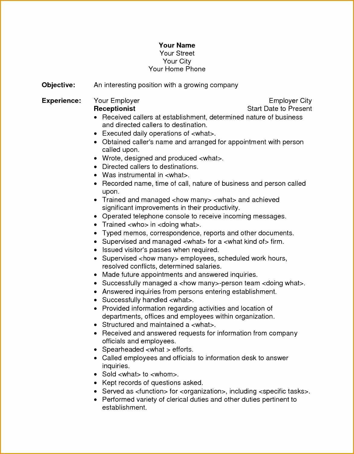 great objective statements sample resume with objective resume
