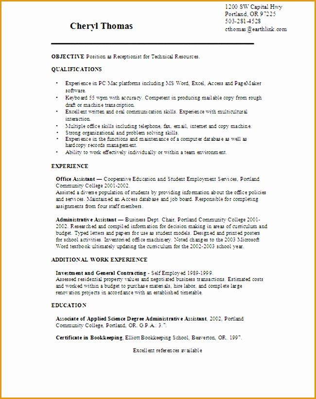 interesting receptionist resume examples 12 skill based sample