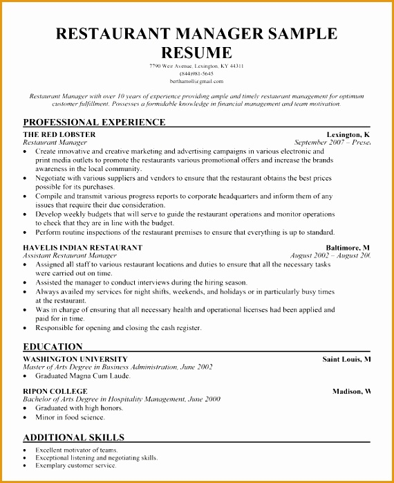 [ Resume For Help Sample Samples Forward Restaurant Assistant Bar Manager And ] Best Free Home Design Idea & Inspiration698570