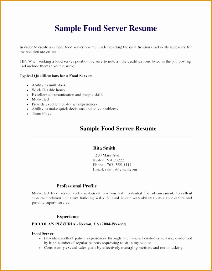sample resume for fast food restaurant resume sample restaurant cook fast food examples cover letter resume sample resume for fast food restaurant866677