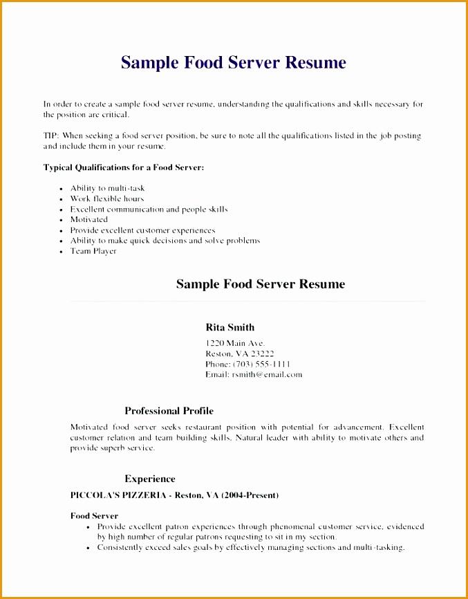 Impactful Professional Food amp Restaurant Resume Examples