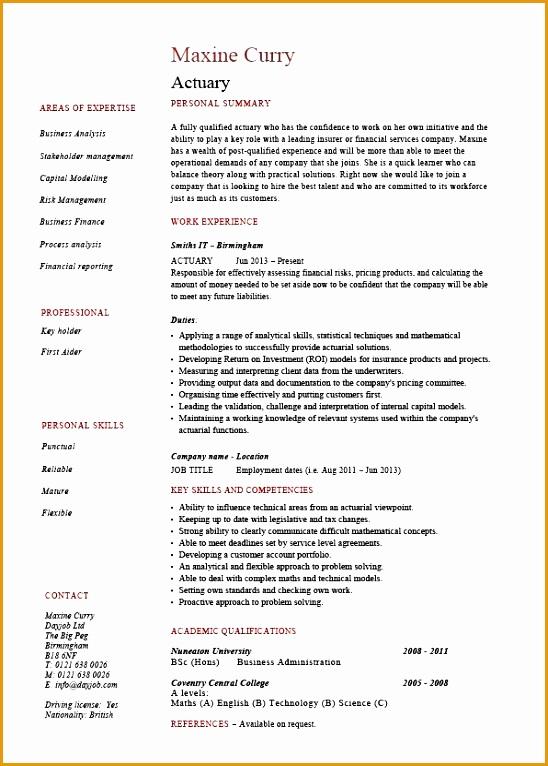 actuary resume 1369766548