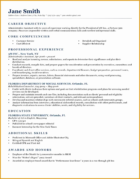 Resume Template NeoClassic Dark Blue