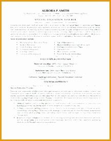 Special Education Teacher Resume Sample277217