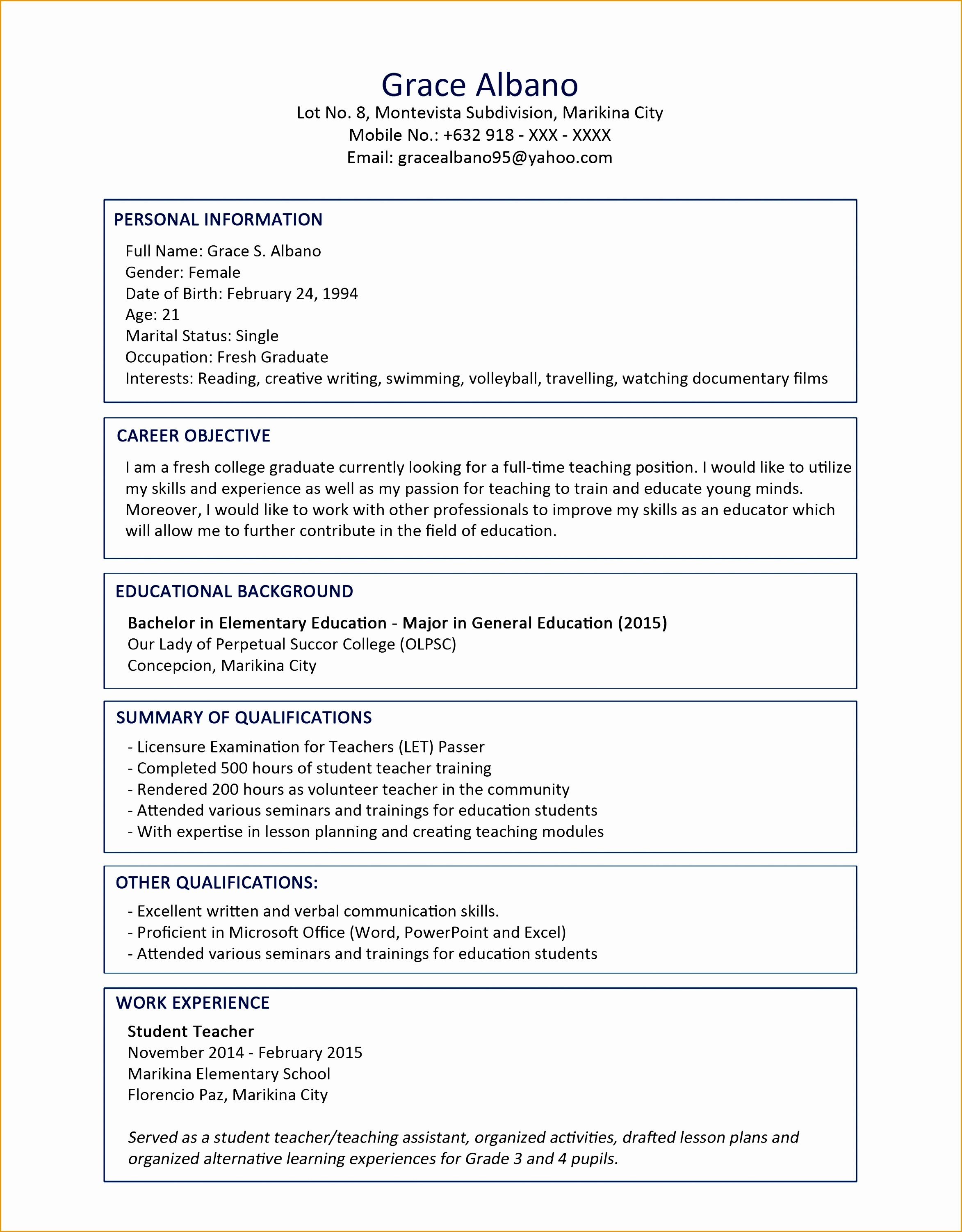cv resume sample for fresh graduate of office administration 1 638 cb=