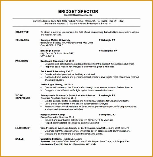 Civil Engineer Fresher Resume PDF Template min