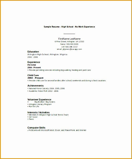 Exles Of Resumes For High School Students With No Experience 28. 8 Resume Sle For High School Students With No. Resume. Resume For High School Students With No Experience At Quickblog.org