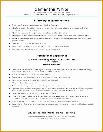 Generic Medical Assistant Resume Sample449351