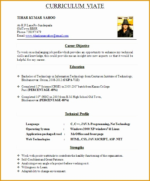 8 resume template for fresher