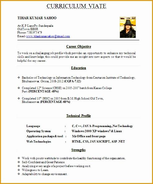 8 resume template for fresher free sles exles