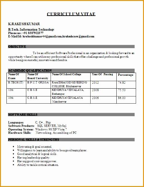 IT Engineer Fresher Resume610469