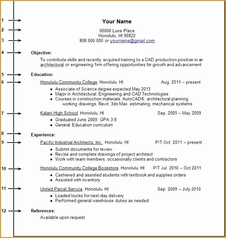 College Student Resume Example No Work Experience DSdstyA