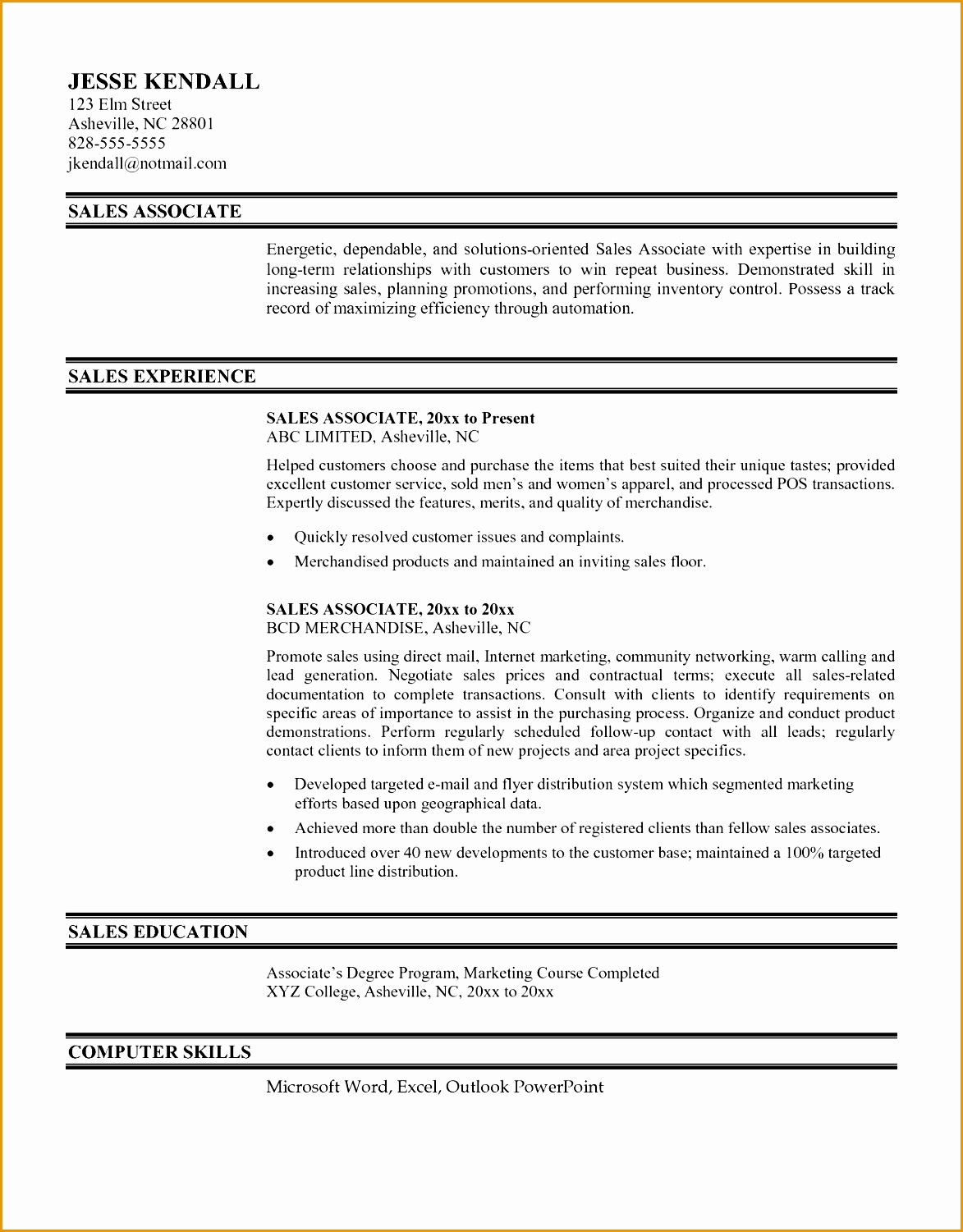 8 sales associate resume objective statement