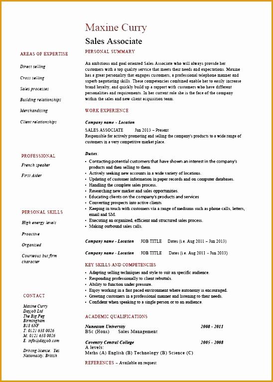 pic sales associate resume 01