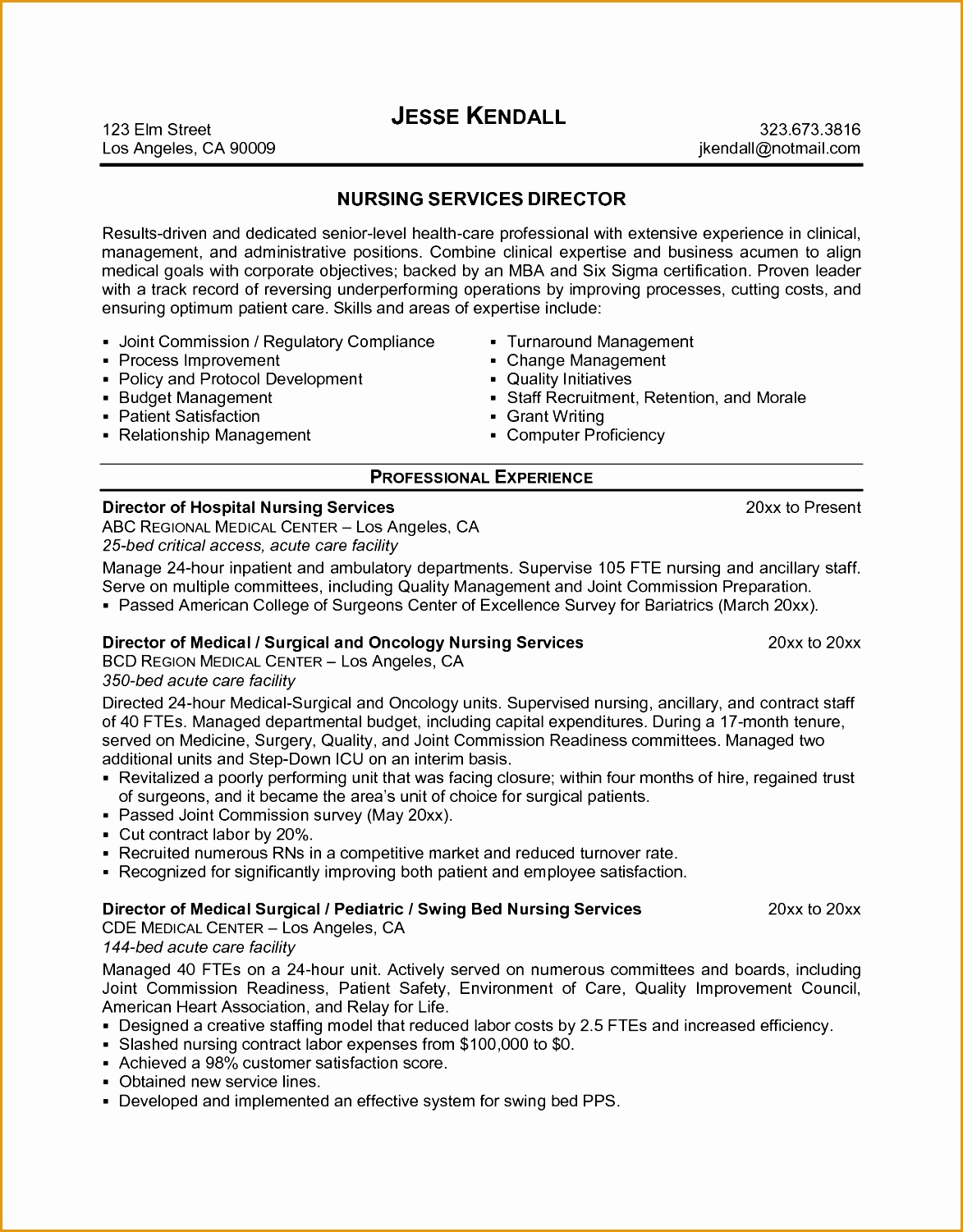 Custom Illustration Middot Medical Surgical Nursing Resume Sle