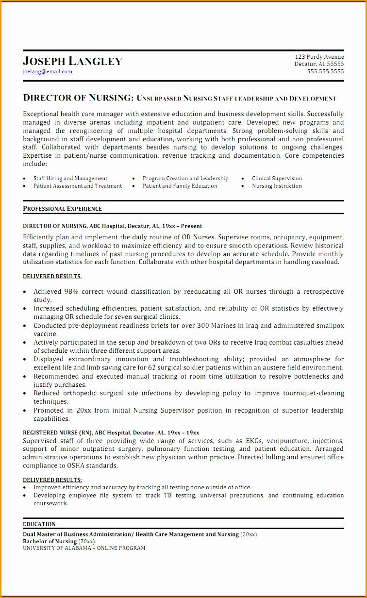 6 sample director nursing resume
