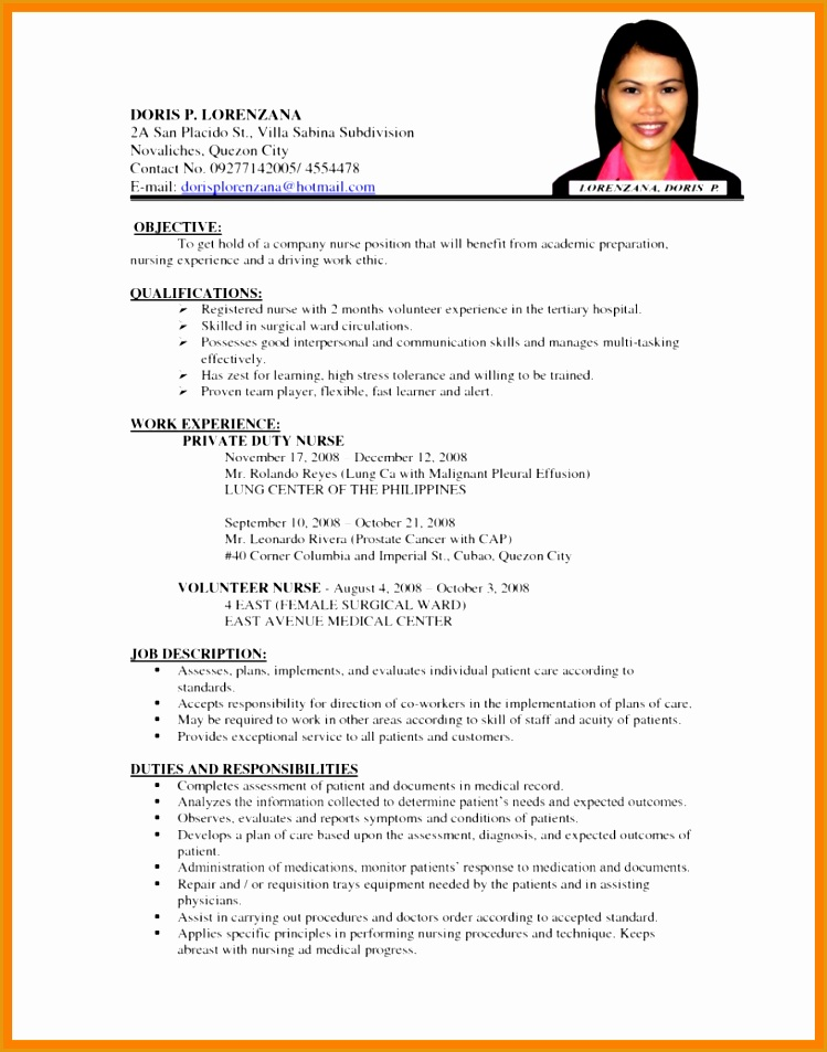 4 sample formal resume953749