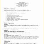 8 Sample Internship Curriculum Vitae