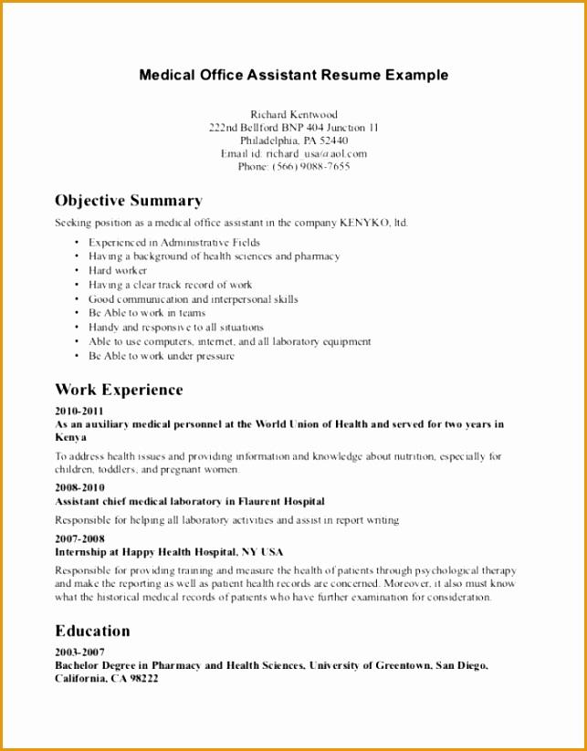 Curriculum Vitae Sample Cover Letter For Summer Internship823643