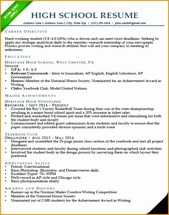 high school resume sample728570
