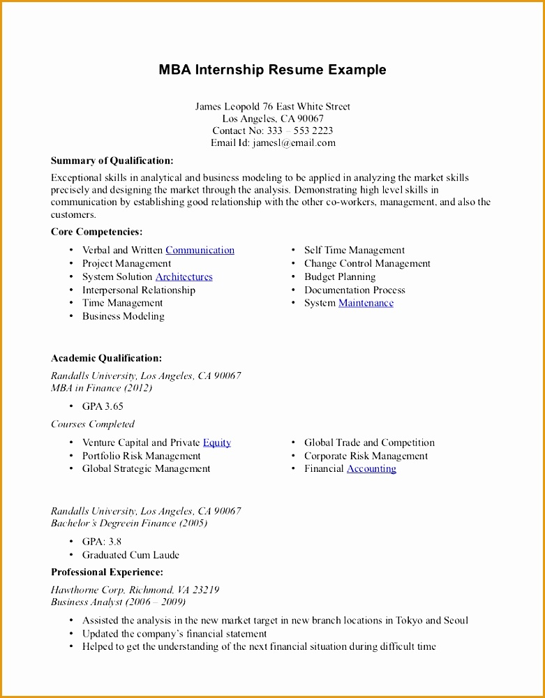Internship Resume Examples Top 10 Resume Objective Examples And Writing Tips1000781