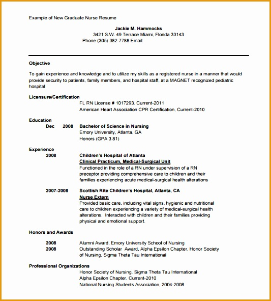 7 Sample Of Comprehensive Resume