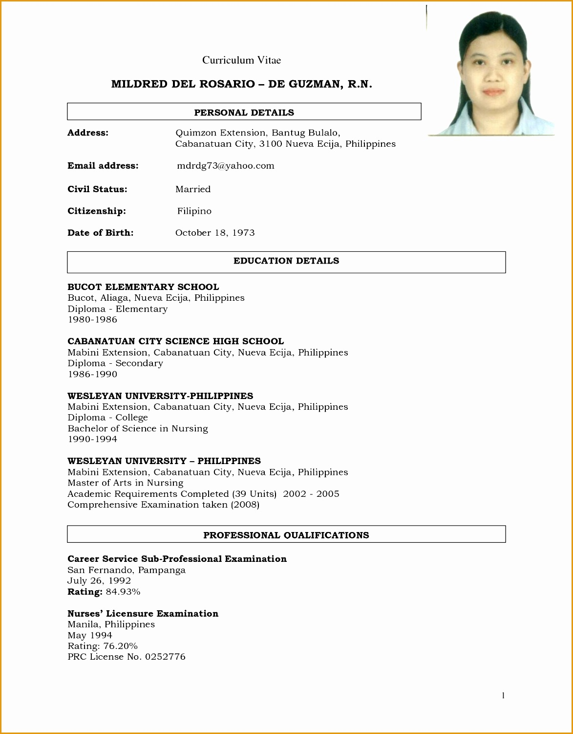 7 Sample Of Comprehensive Resume Free Samples Examples