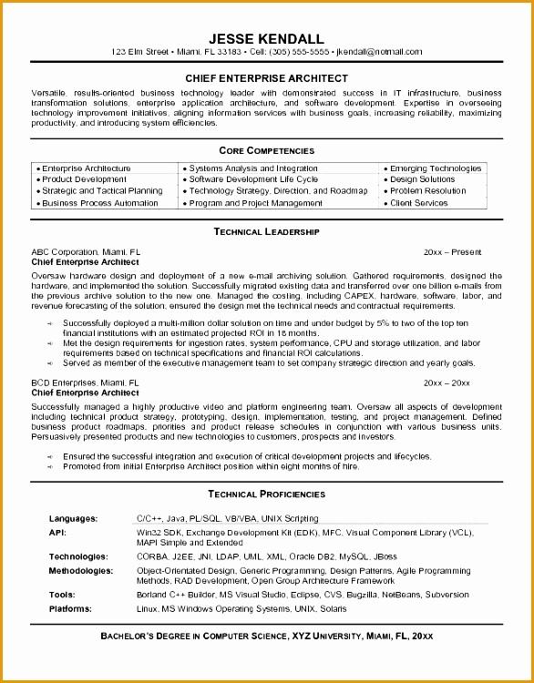 business architect resume - Enterprise Architect Resume