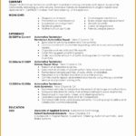 7 Sample Resume for Automotive