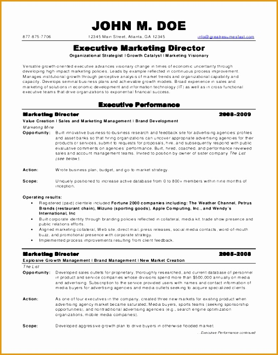 Marketing Job Resume Sales Executive Sample Intended For And 15 Appealing720563