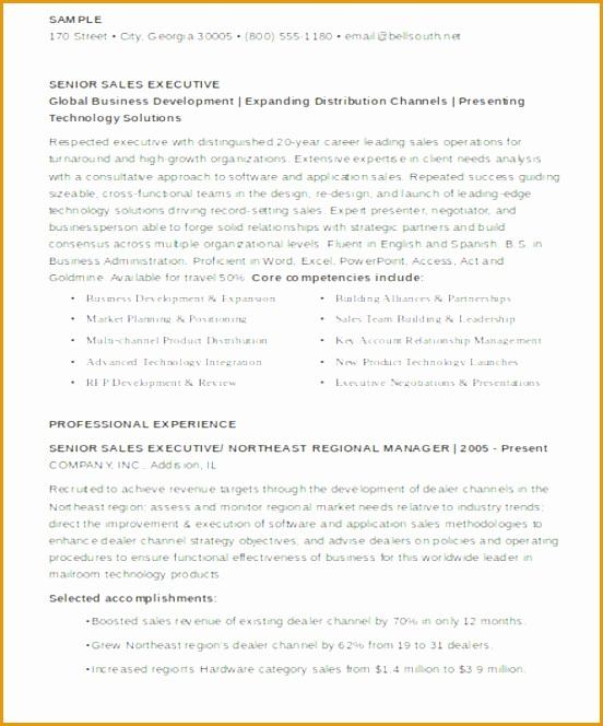 Senior Sales Executive Resume664552