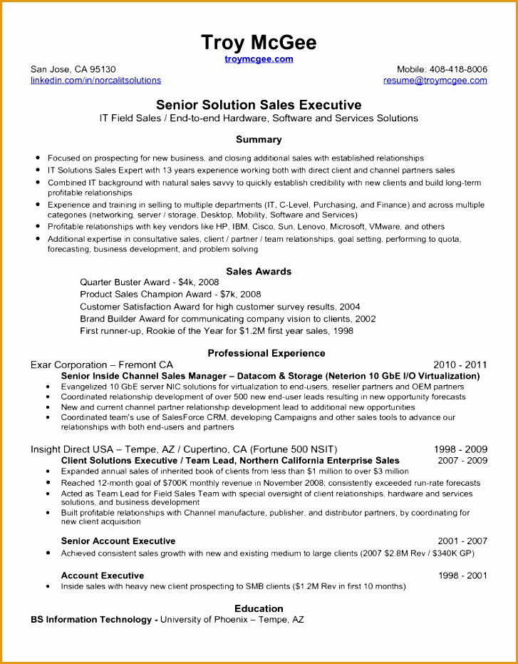 Chronological Resume Sample Senior Sales Account Executive wl guyton resume with references account managerresume of walter931727