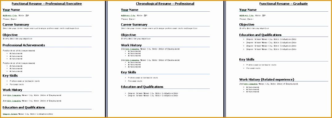 Resume formats1