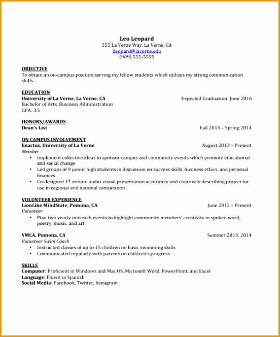 11 12 Curriculum Vitae Of A Student Example: Free Samples , Examples & Format Resume / Curruculum
