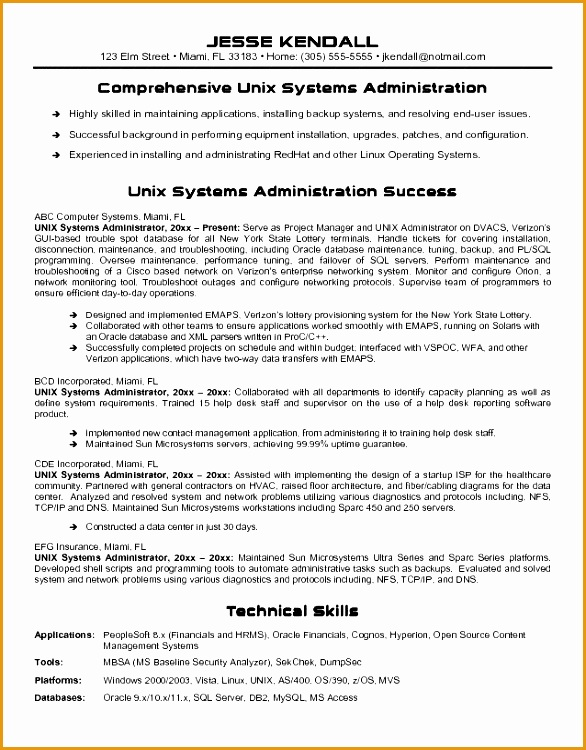ravishing system administrator resume creative