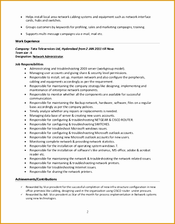6 Systems Administrator Resume Free Samples Examples