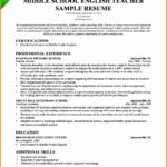 7 Teacher Resume Sample