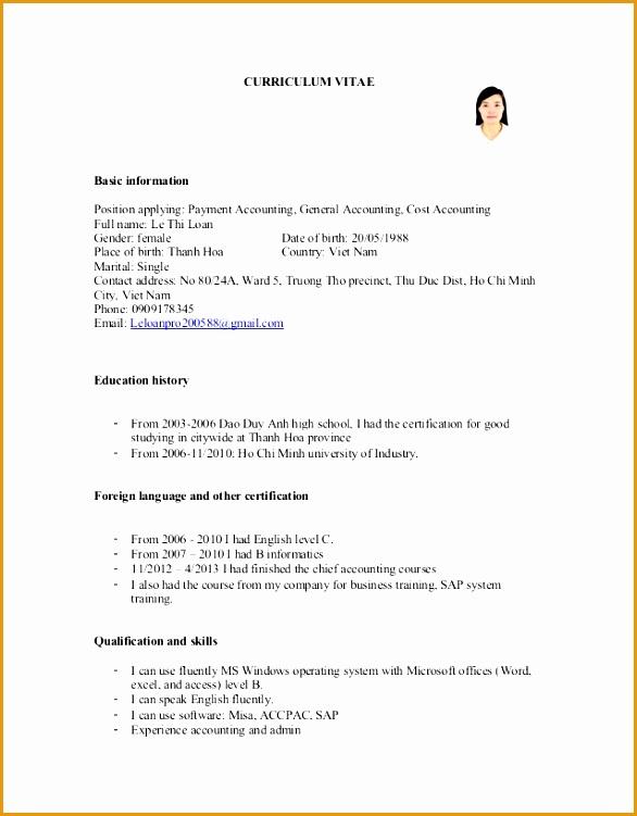 curriculum vitae le thi loan 3751586