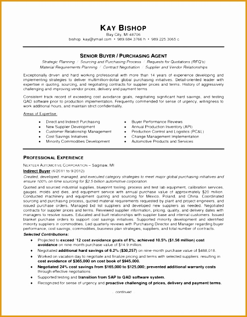 the most brilliant purchasing agent resume sample637496