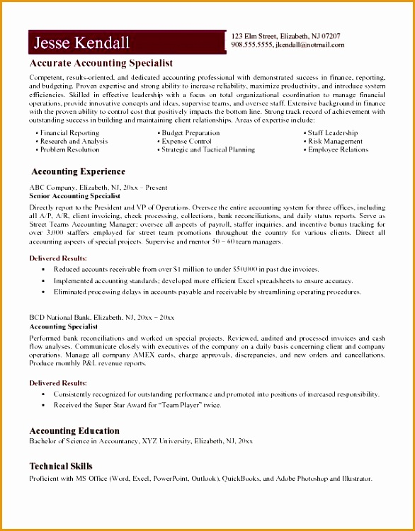 8 accounts payable specialist resume